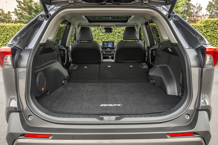 In terms of cargo space, the Rav4 has 37.6 cubic feet of space, but fold the rear sets down and that cargo room expands to 69.8 cubic feet. This volume definitely provides fleet drivers with enough space to store products or equipment.  - Photo by Kelly Bracken.