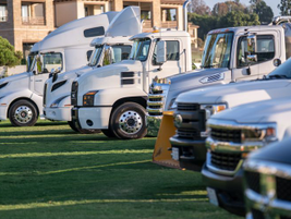 The OEM Showcase showed off Ram, Chevrolet, Mack, and Volvo vehicles because Verizon Connect...