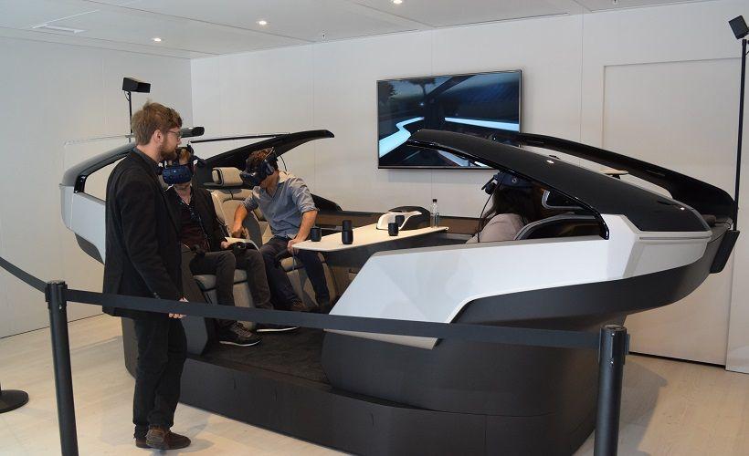 A virtual reality simulation of Volvo's360c autonomous concept vehicle.