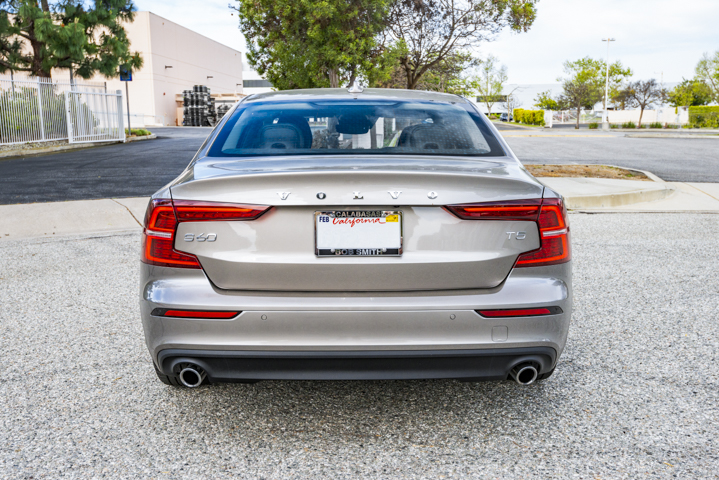 Styling updates for the 2019 S60 include reworked taillights that now form a C and inverted-C...