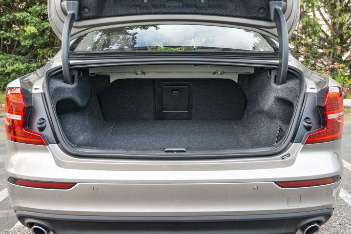 The trunk provides 12 cubic feet of space.