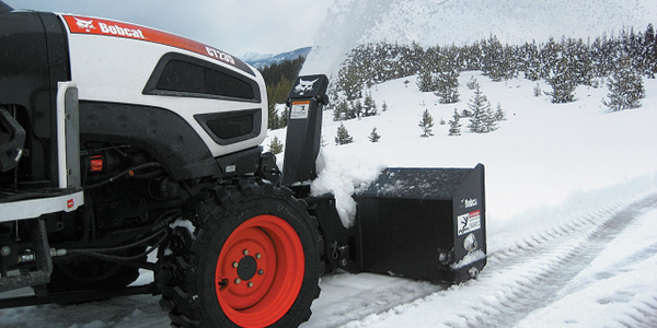 Front-mounted snowblower implements are now available for Bobcat compact tractor models CT120 to...