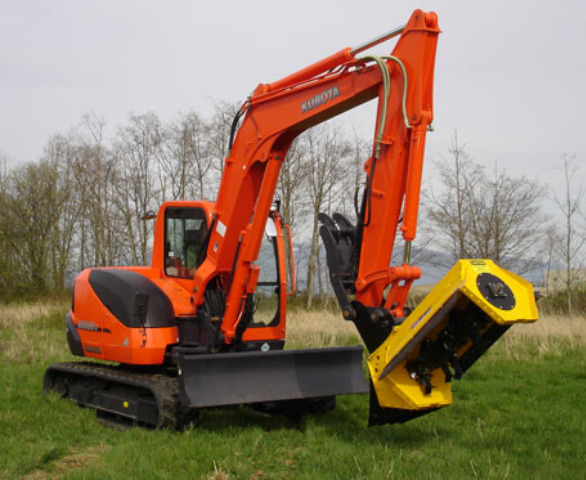 KX121-3 Super Series Compact Excavator with New 6-in-1 Blade