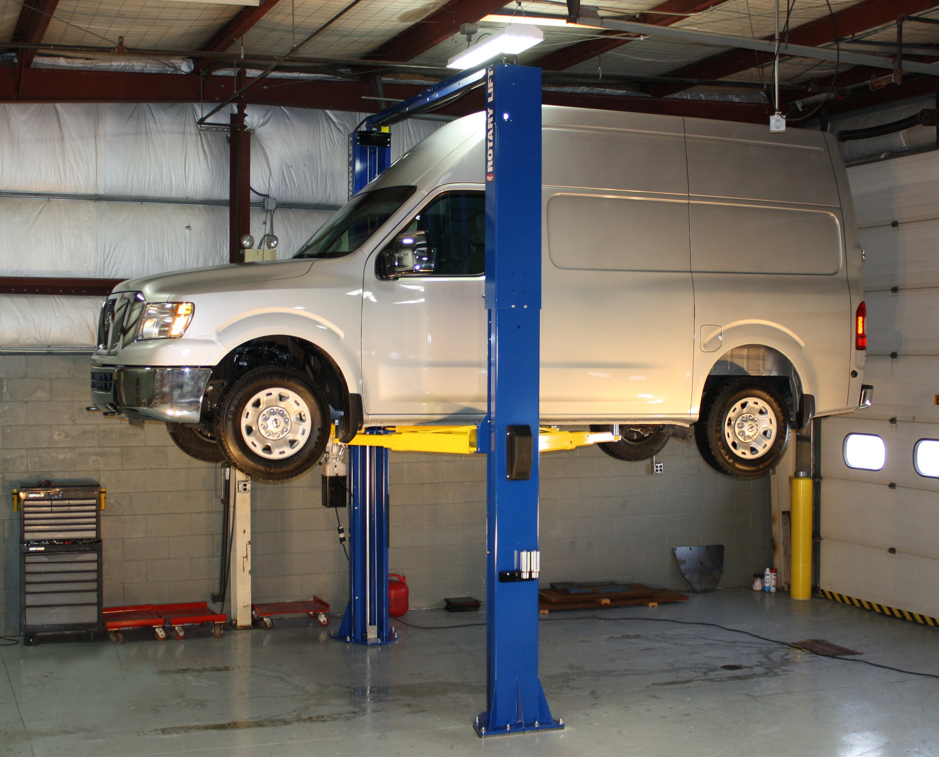 Two-Post Lift for High-Roof Vans