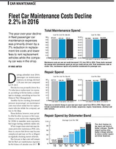 2016 Maintenance Statistics