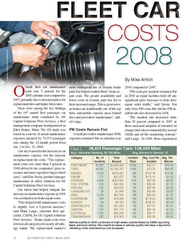 2008 Maintenance Statistics