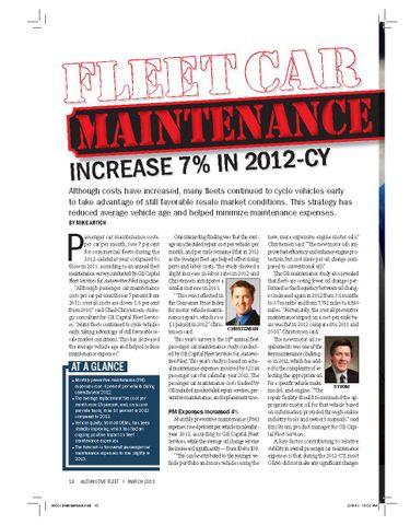 2012 Maintenance Statistics
