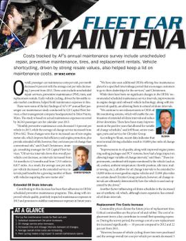 2013 Maintenance Statistics