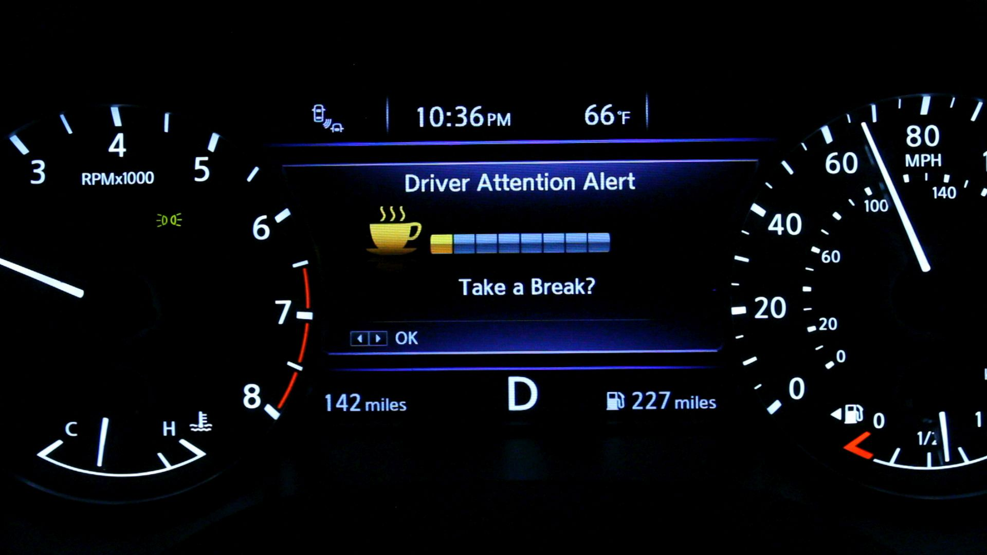 Nissan Driver Attention Alert System