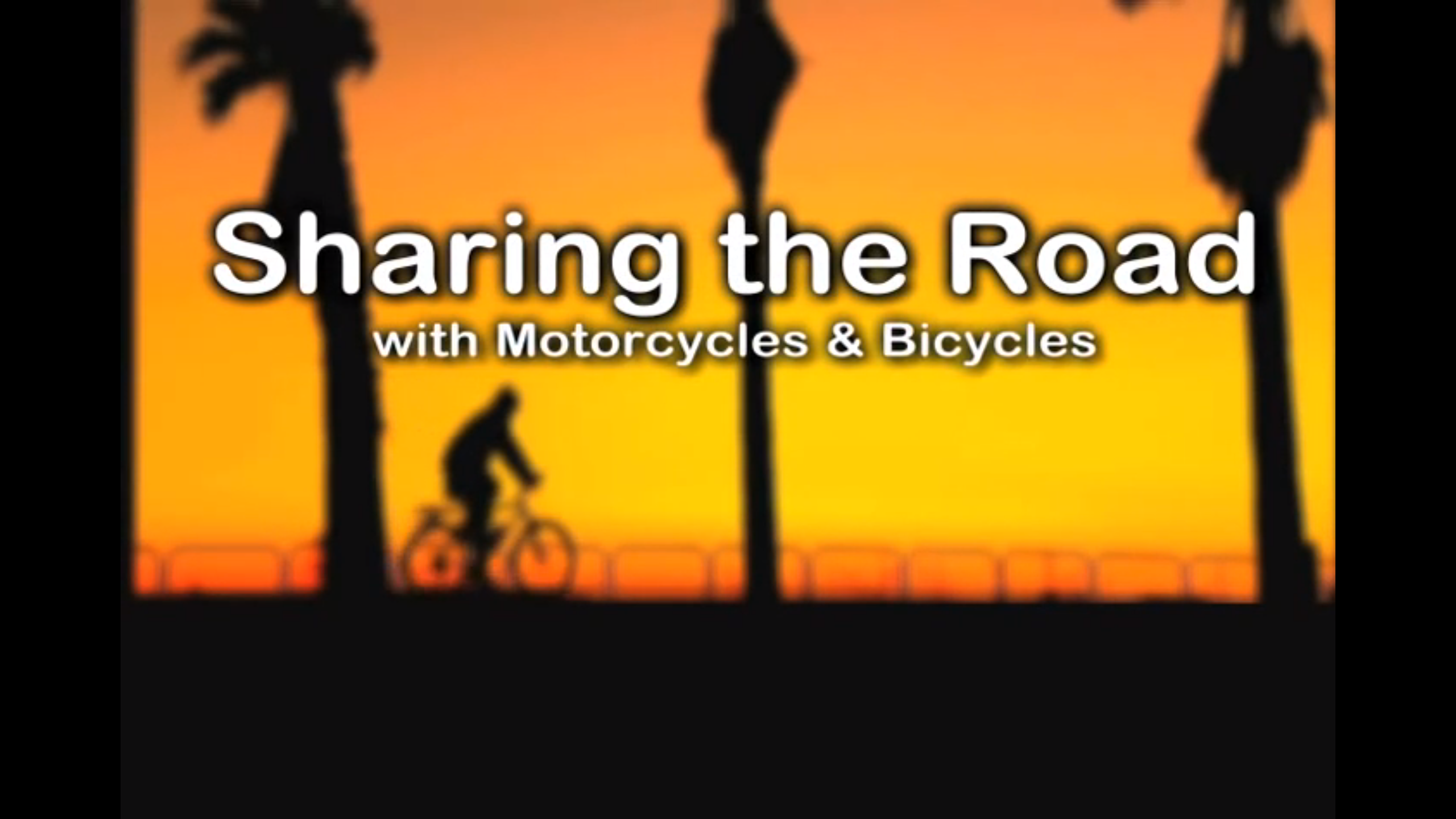 Sharing the Road With Motorcycles and Bicycles