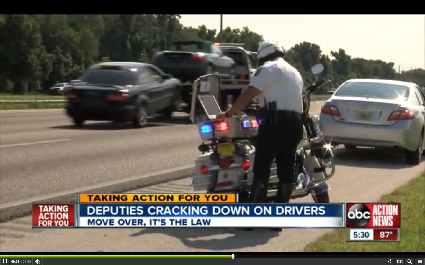 Deputies Crack Down on Move-Over Law Violations