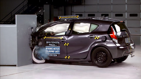 Prius C IIHS Crash Test
