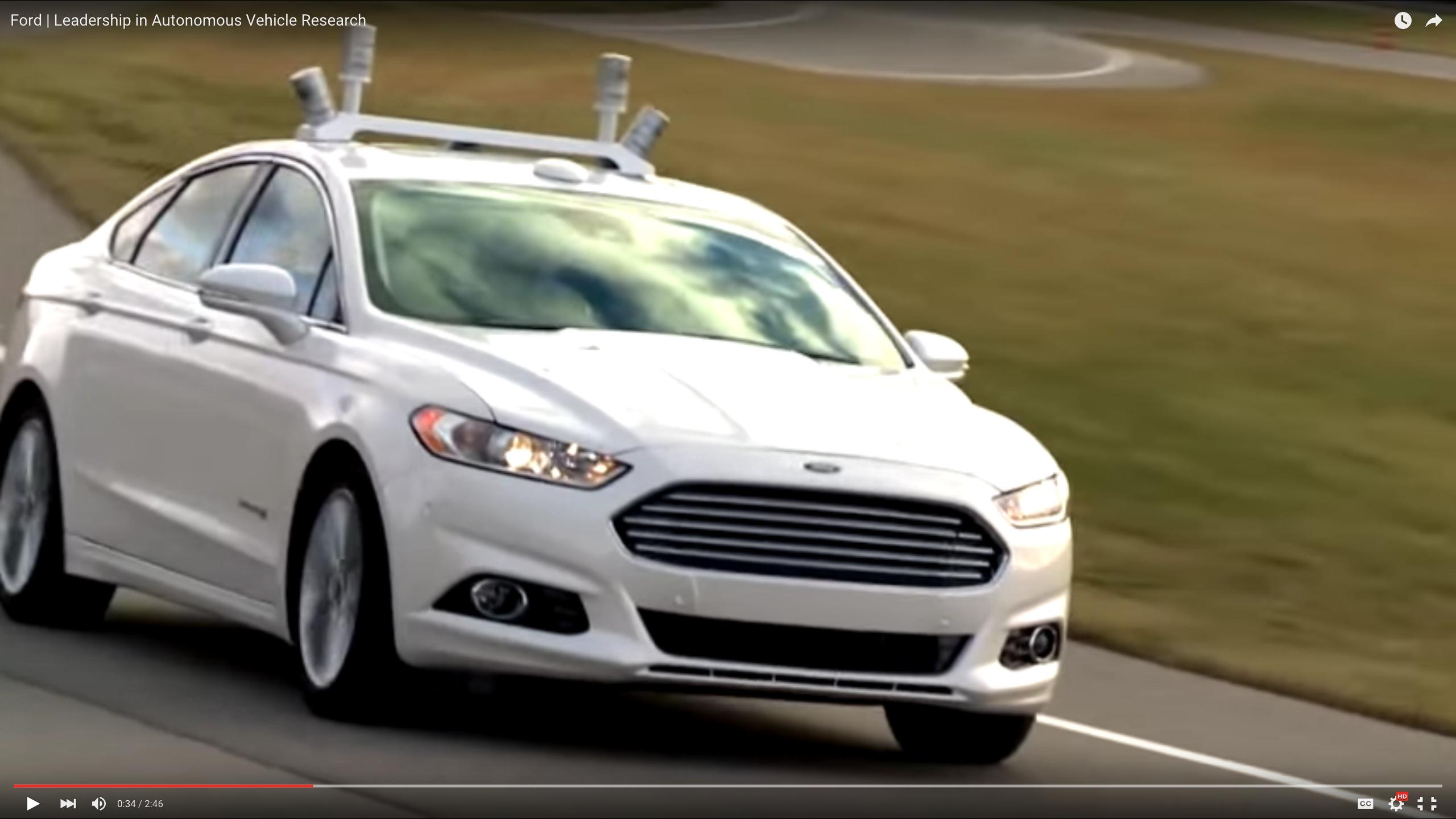 Ford's Autonomous Car Progress