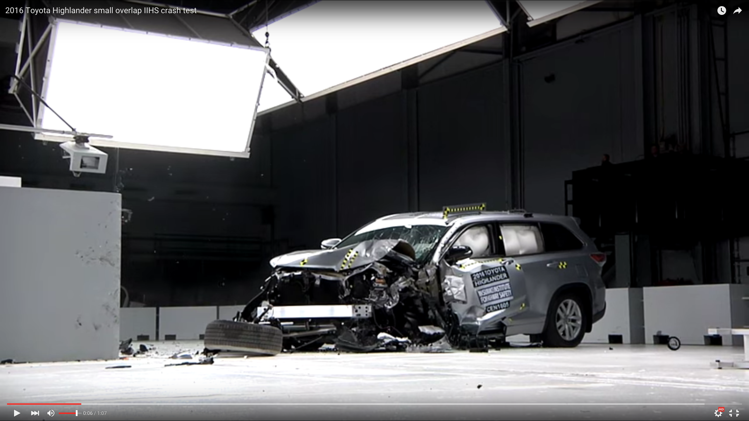 2016 Toyota Highlander Crash Test