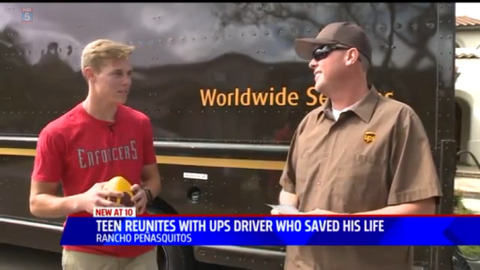 UPS Driver Rescues Trapped Teen