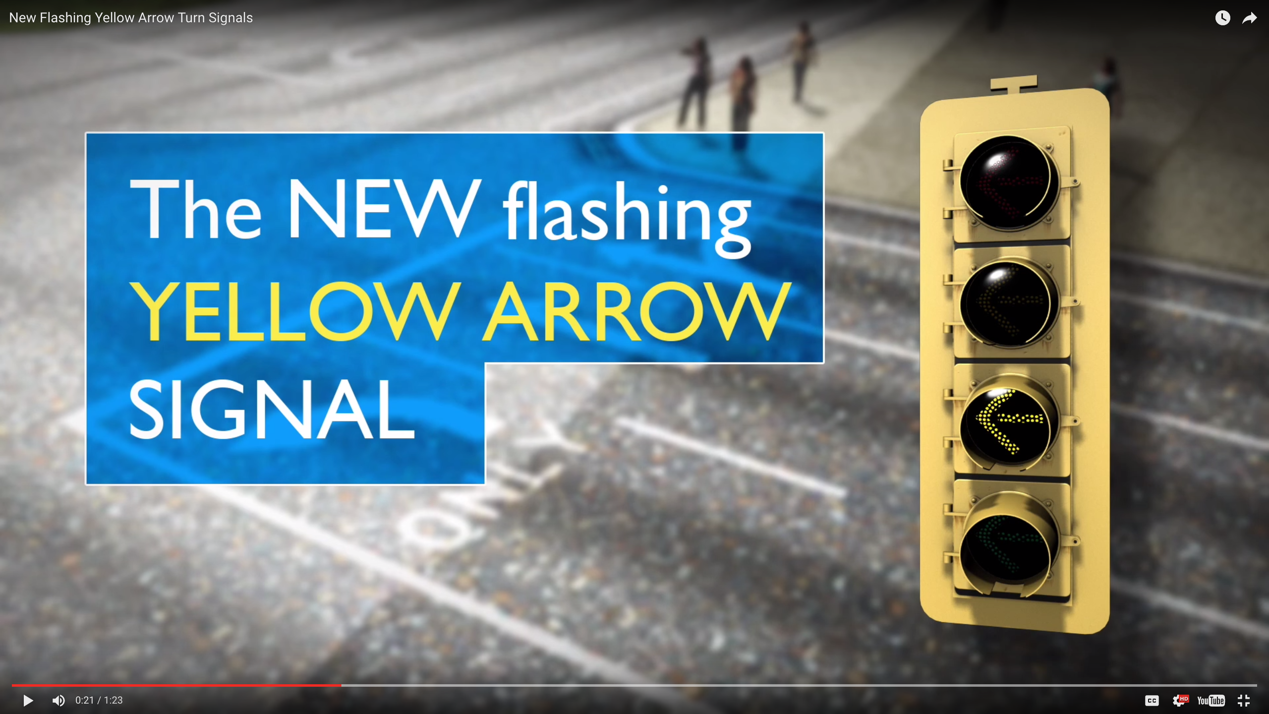 Flashing Yellow Arrow Turn Signals