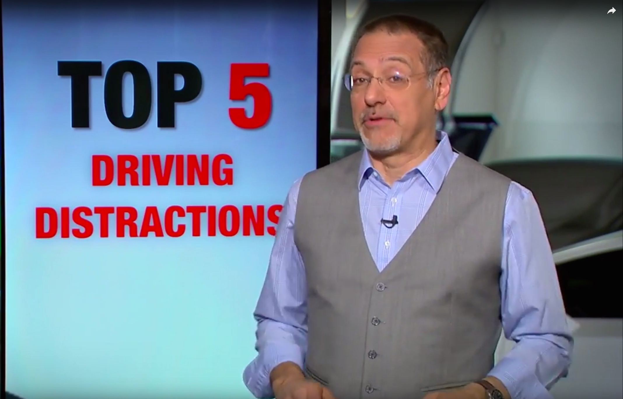 Top Five Driving Distractions