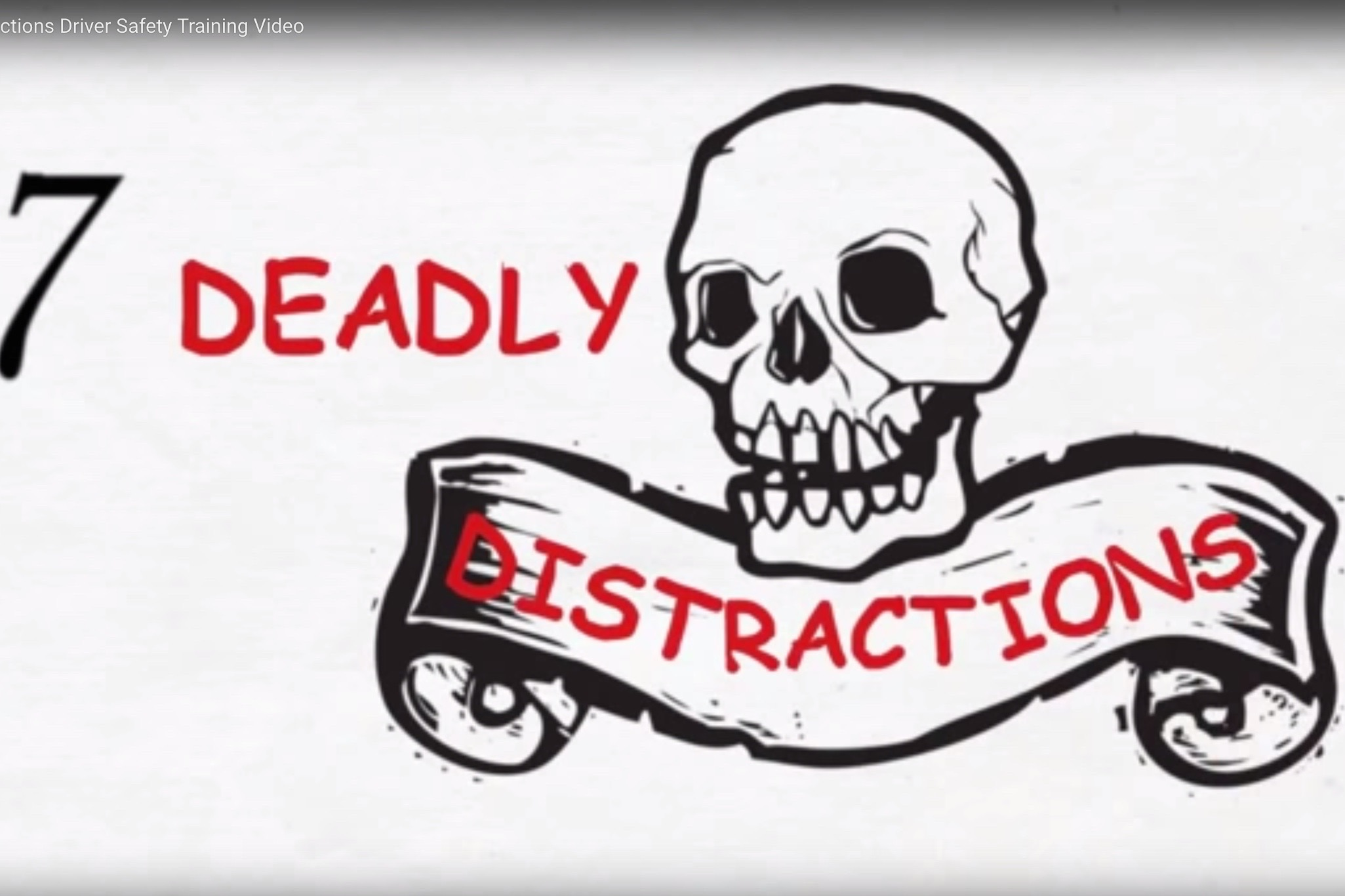 Seven Deadly Driver Distractions