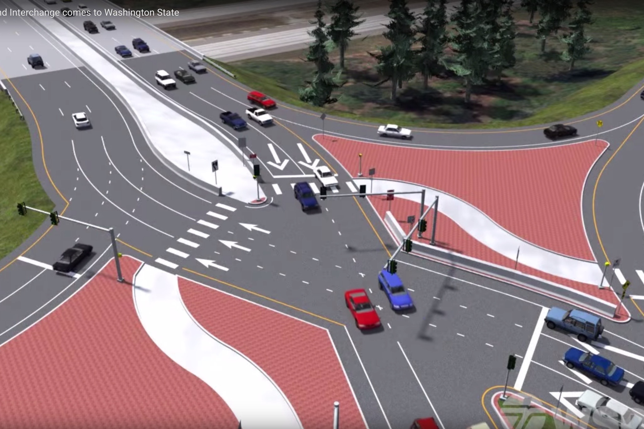 How Diverging Diamond Interchanges Work