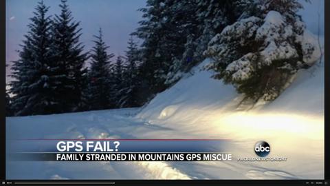 GPS Leaves Family Stranded