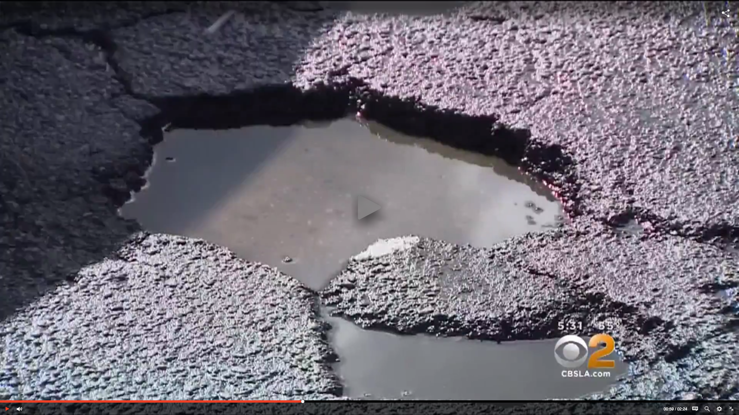 Calif. Streets Riddled With Potholes