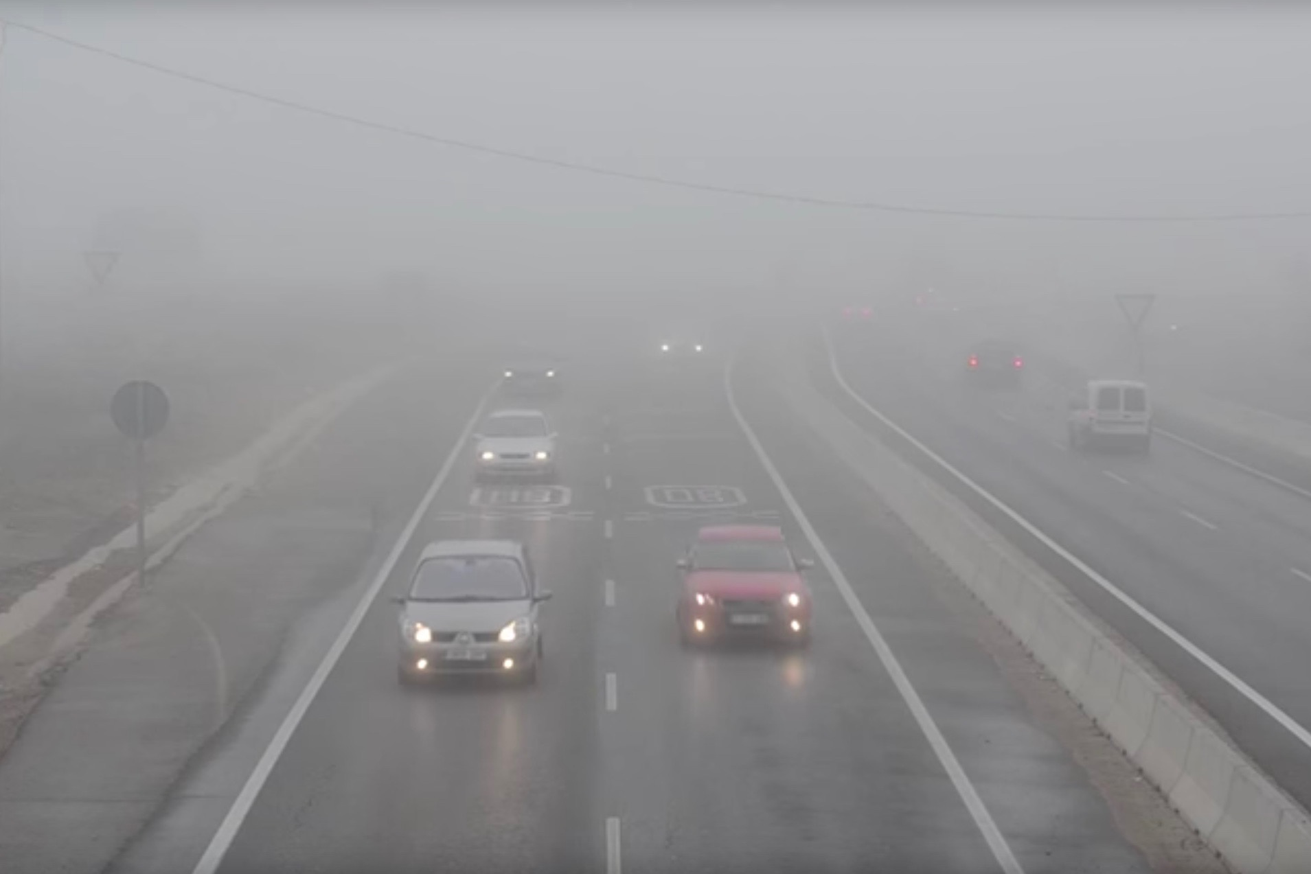 How to Drive in Dense Fog