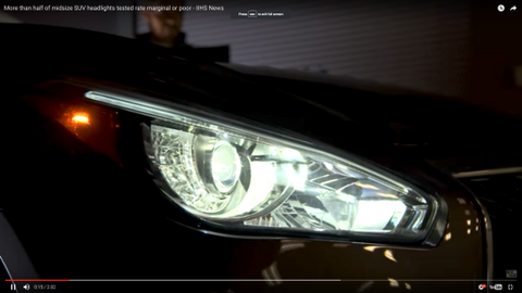 IIHS SUV Headlight Tests