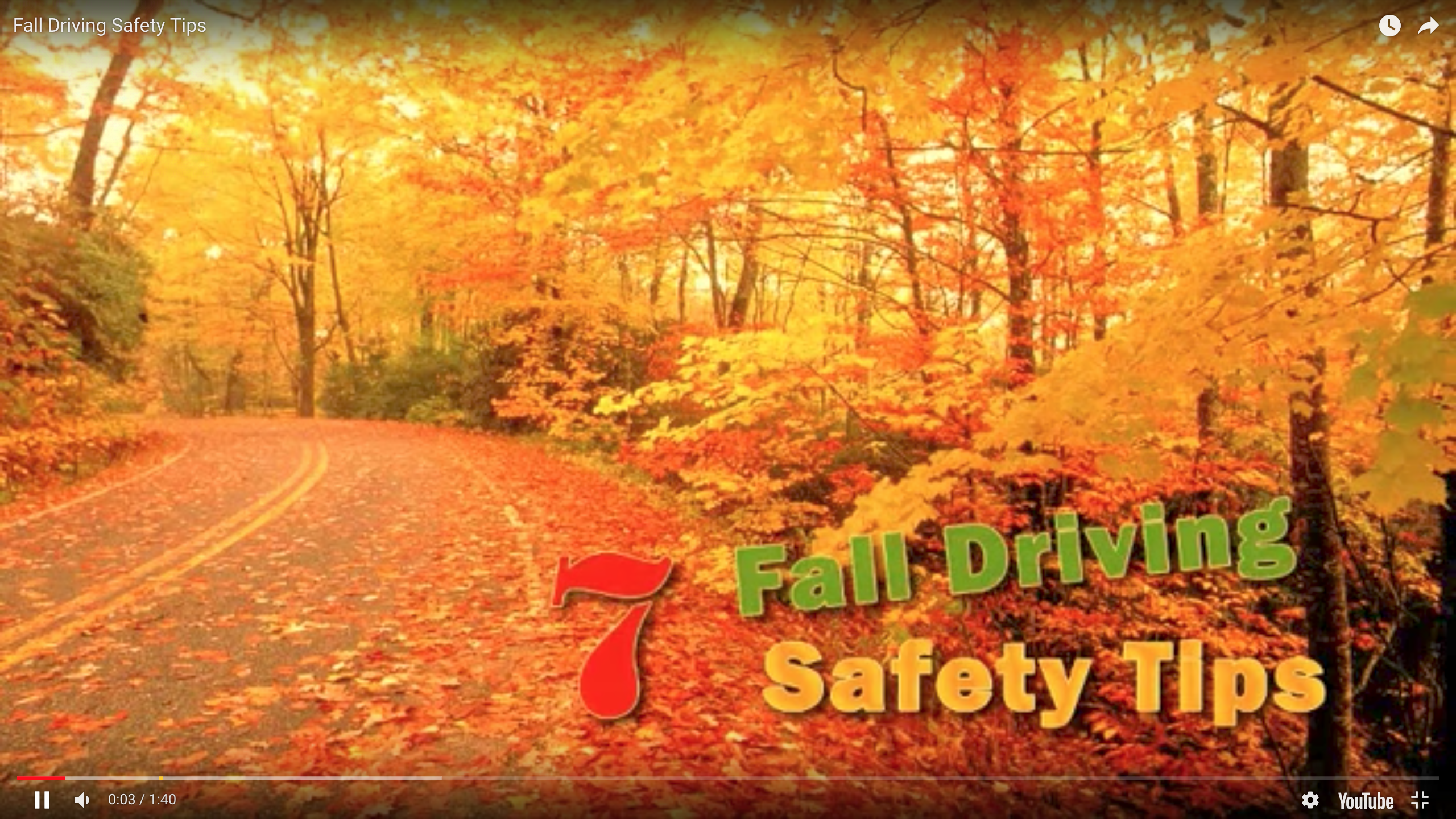 7 Fall Driving Safety Tips