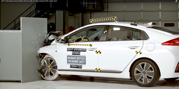 Hyundai Ioniq Hybrid Crash Test