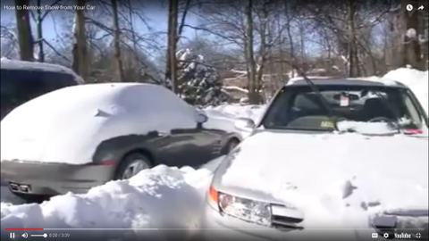 Digging Out a Vehicle Buried in Snow