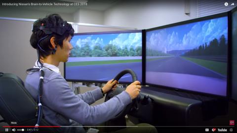 Nissan's Brain-to-Vehicle Tech