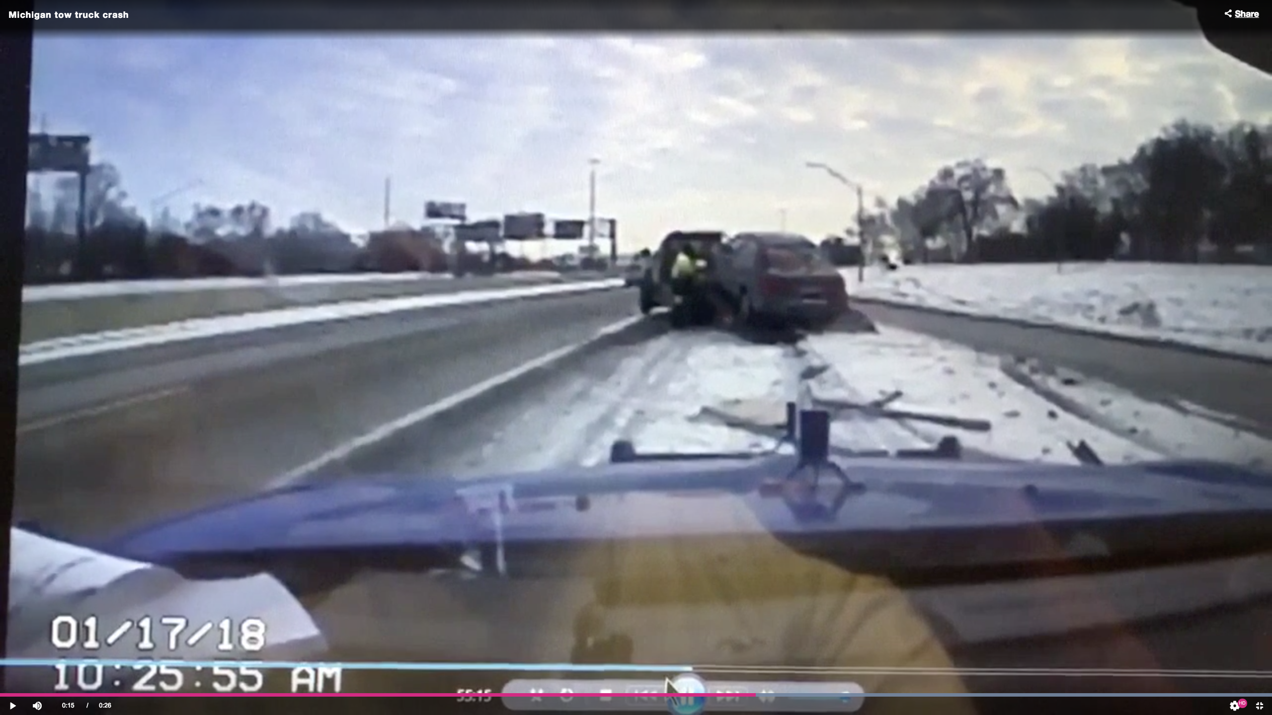 Mich. Tow Truck Crash
