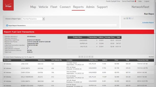 Verizon Networkfleet: Using Fuel Cards and Diagnostics