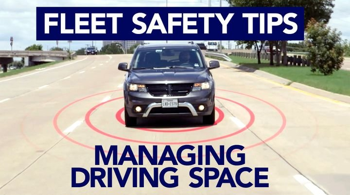 "Fleet drivers need to manage the ""space cushion"" around their vehicle to avoid possible collisions. - Screenshot via Smith System."