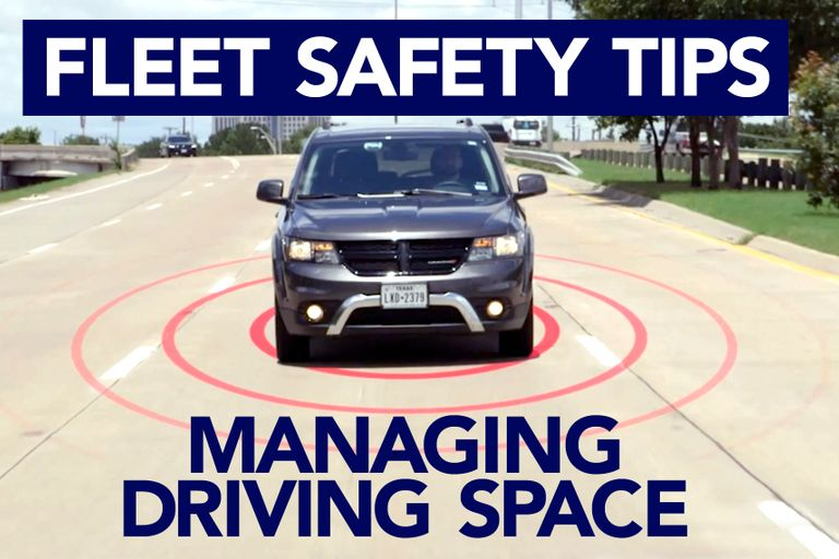 """Fleet drivers need to manage the """"space cushion"""" around their vehicle to avoidpossible collisions."""