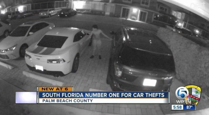South Florida again leads the state in vehicle thefts.  - Screenshot via WPTV.