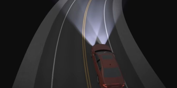 Adaptive headlight systems allow drivers to spot a difficult-to-see object on a dark, curvy road...