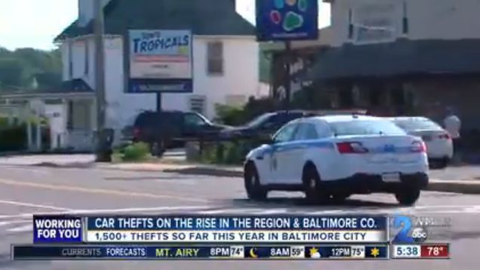 Baltimore's Auto Theft Spike