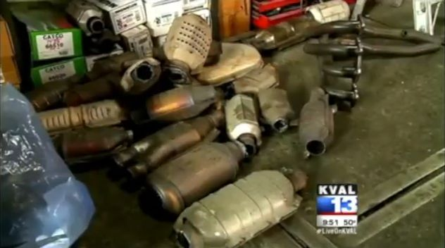 Screenshot of catalytic converters via KVAL.