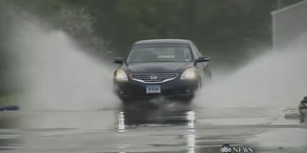 Hydroplaning happens when there's too much water on the road for tires to disperse, and the...