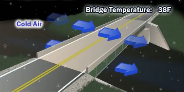 Icy bridges present an extreme hazard for fleet drivers.