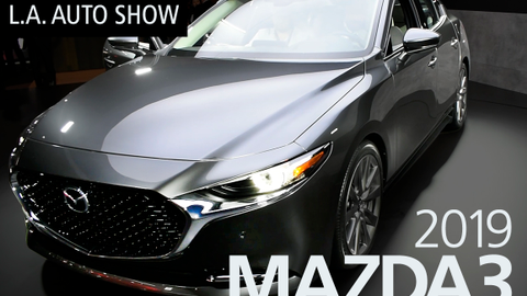 Mazda unveiled its updated 2019 Mazda3 compact car at the LA Auto Show.