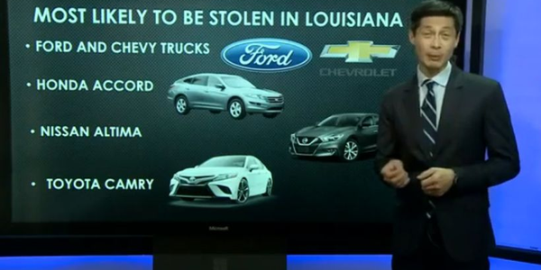 A car is stolen every three hours in New Orleans, according to the NICB.