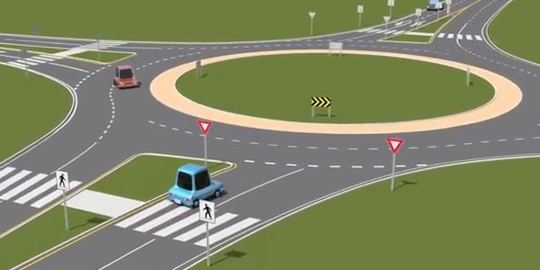 Roundabouts reduce collisions because vehicle must slow down, but they can be tricky to navigate.