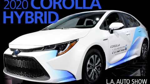 Toyota introduced the 2020 Corolla Hybrid at the LA Auto Show.