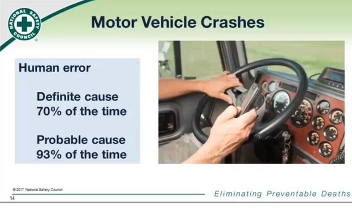 An effectivejourney management plan is a holistic look at roadway safety risks and how to manage them.  - Screenshot via National Safety Council/YouTube.