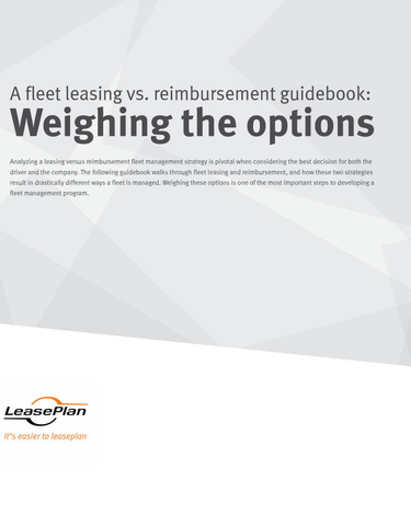 A Fleet Leasing vs. Reimbursement Guidebook: Weighing the Options
