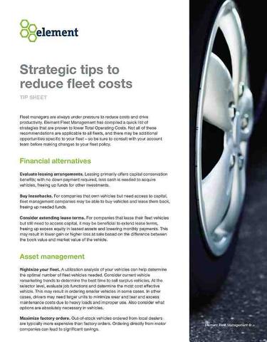 Strategic Tips to Reduce Fleet Costs