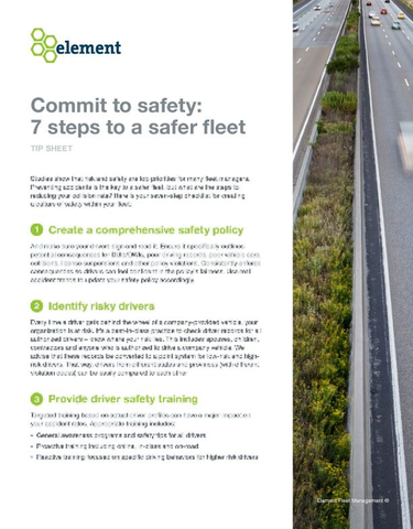 7 Steps to a Safer Fleet