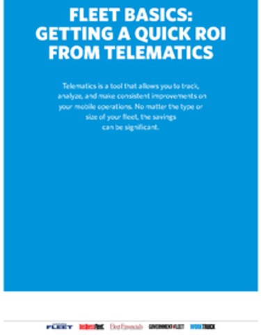 Fleet Basics: Getting a Quick ROI From Telematics